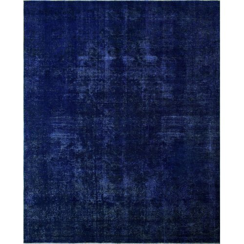 Isabelline One-of-a-Kind Ramey Vintage Hand-Knotted 9'3'' x 12'1'' Wool Purple Area Rug