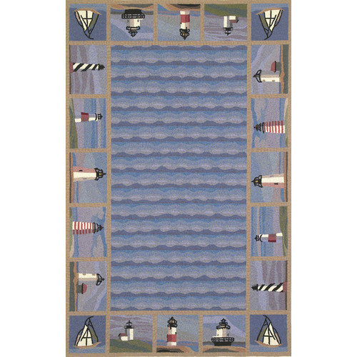 KAS Rugs Colonial Lighthouse Nautical Novelty Rug