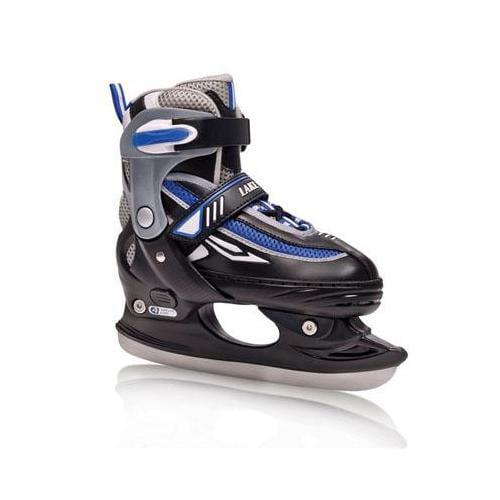 Lake Placid Boy's Metro Adjustable Figure Ice Skate (Black - Large (6-9))