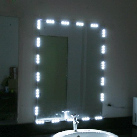 Yosoo Vanity Mirror Lights Kit, 5FT 10 LED Light Bulbs for Vanity Table Set and Bathroom Mirror, Hollywood Style Lighting Fixture Strip with USB Charging Cable W/ Remote