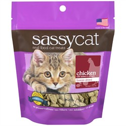 Herbsmith Sassy Cat Treats, Chicken with Apples and Spinach