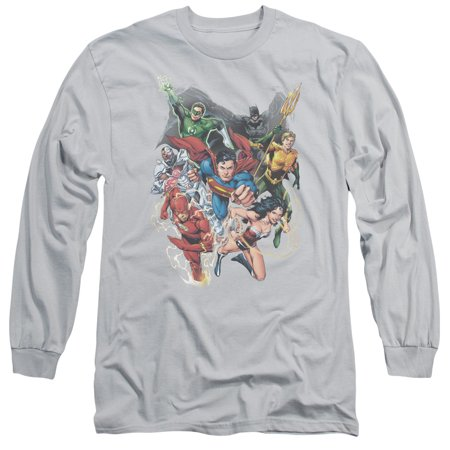 Jla Refuse To Give Up Mens Long Sleeve Shirt