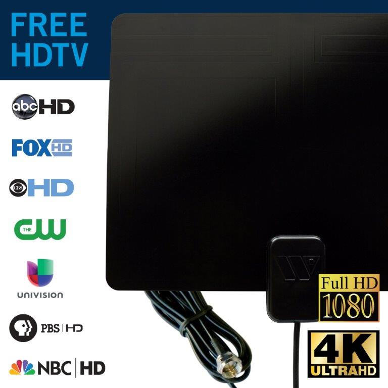 Winegard FL55YR FlatWave Amplified Razor Thin HDTV Indoor Antenna Certified