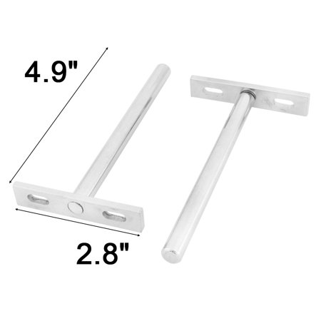 Bedroom Stainless Steel T Shaped Wall Mounted Book Shelf Support Bracket 3 Pcs - image 2 of 3