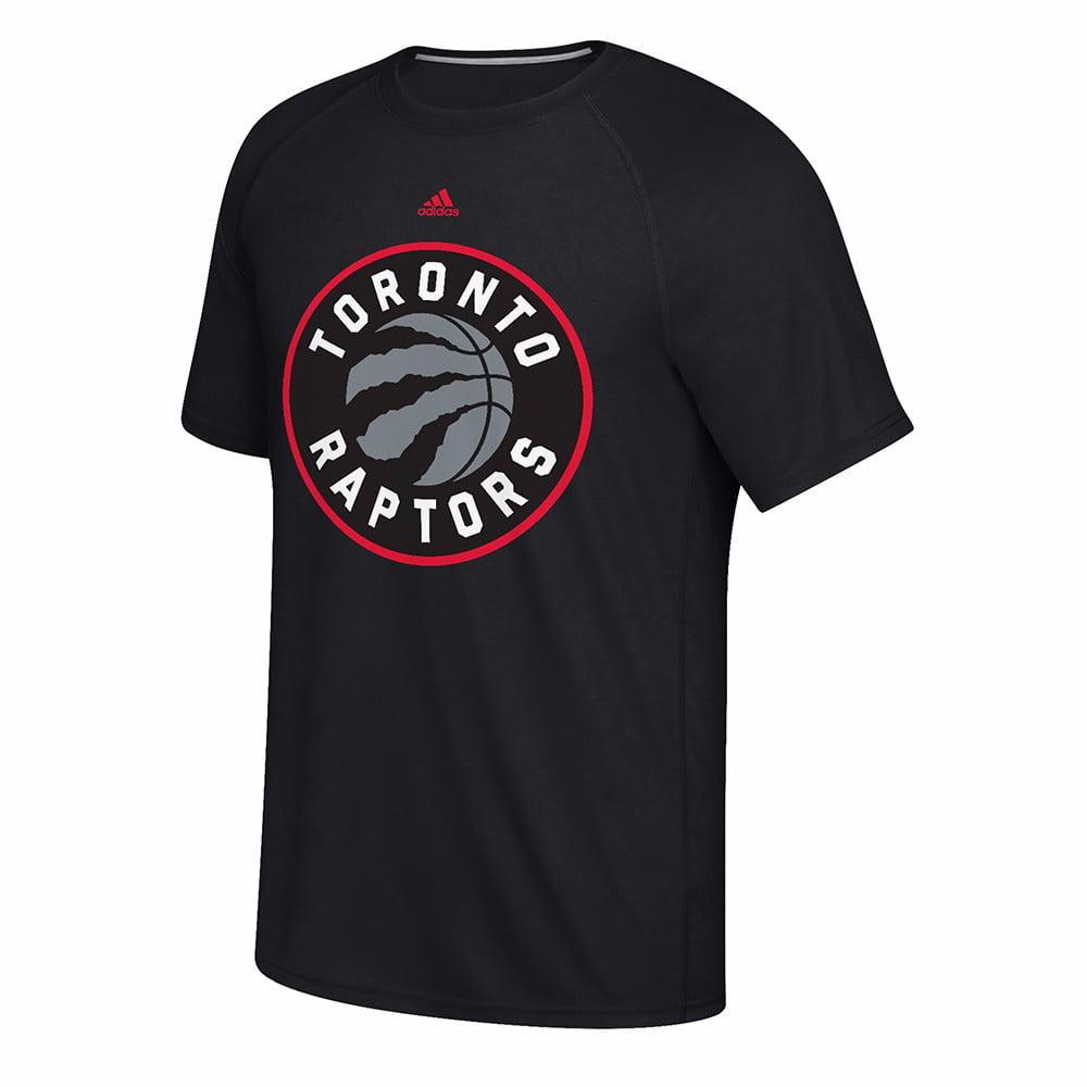 "Toronto Raptors NBA Adidas Black ""Huge Preferred Logo"" Climalite Performance Short Sleeve T-Shirt For Men"