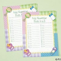 - Baby Shower Game - Baby Necessities from A to Z, Siza 8 1/2'x11' (1-Pack of 24)