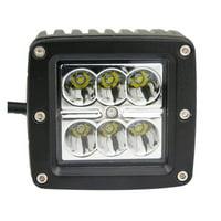 2X 24W CREE LED Work 4WD Light Bar Spot Offroad Driving ATV SUV 4X4 Jeep 16W/24W