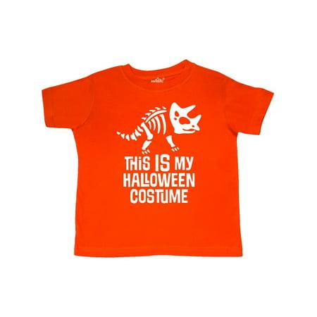 Dinosaur Skeleton Halloween Costume Toddler T-Shirt - Dinosaur Skeleton Costume