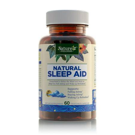 - Nature's Wellness Natural Sleep Aid, 60 Vegetable Capsules