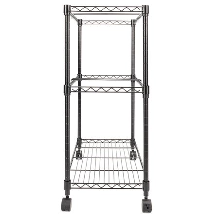 Two Tier Metal Rolling Mobile File Cart for Letter Size