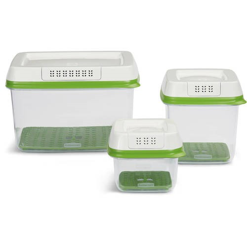 Rubbermaid FreshWorks Produce Saver Food Storage Container with Lid