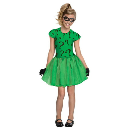 Girls Riddler Tutu Dress - Riddler Suit Costume