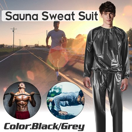 Unisex 100% PVC Heavy Duty Fitness Loss Weight Sweat Suit Sauna Yoga Stretch Workout Suit Exercise Gym L-4XL