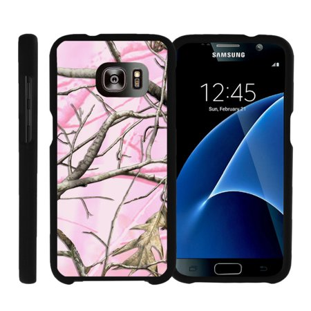 Samsung Galaxy S7 G930, [SNAP SHELL][Matte Black] Snap On Hard Plastic Protector with Non Slip Coating with Unique Designs - Pink Hunter Camouflage