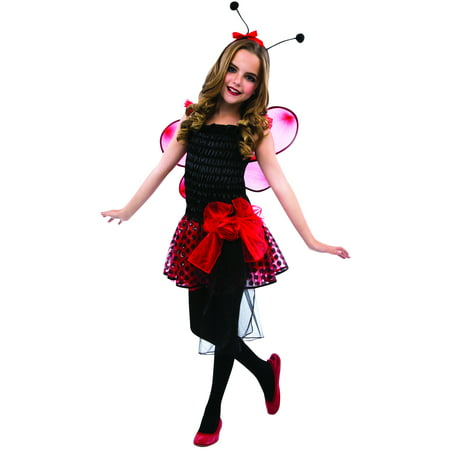 Living Fiction Adorable Queen Ladybug 3pc Girl Costume, Red, Small 4-6