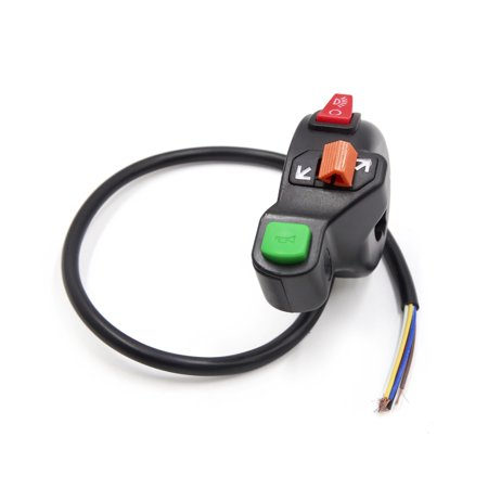 22mm Handlebar Motorcycle Horn Headlight High Low Beam Turn Signal Lamp Switch Beam Turn Signal Combination Switch