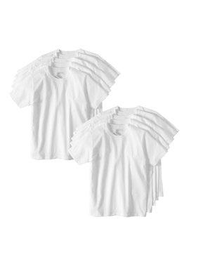 Wonder Nation Boys Undershirts, 10 Pack Crew Neck Undershirts (Little Boys & Big Boys)