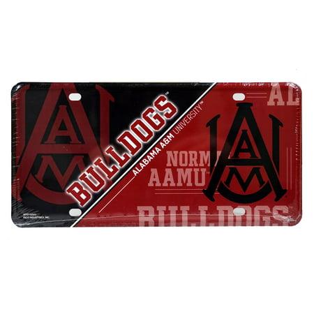 Alabama A&M Bulldogs Logo NCAA 12x6 Auto Metal License Plate Tag CAR TRUCK