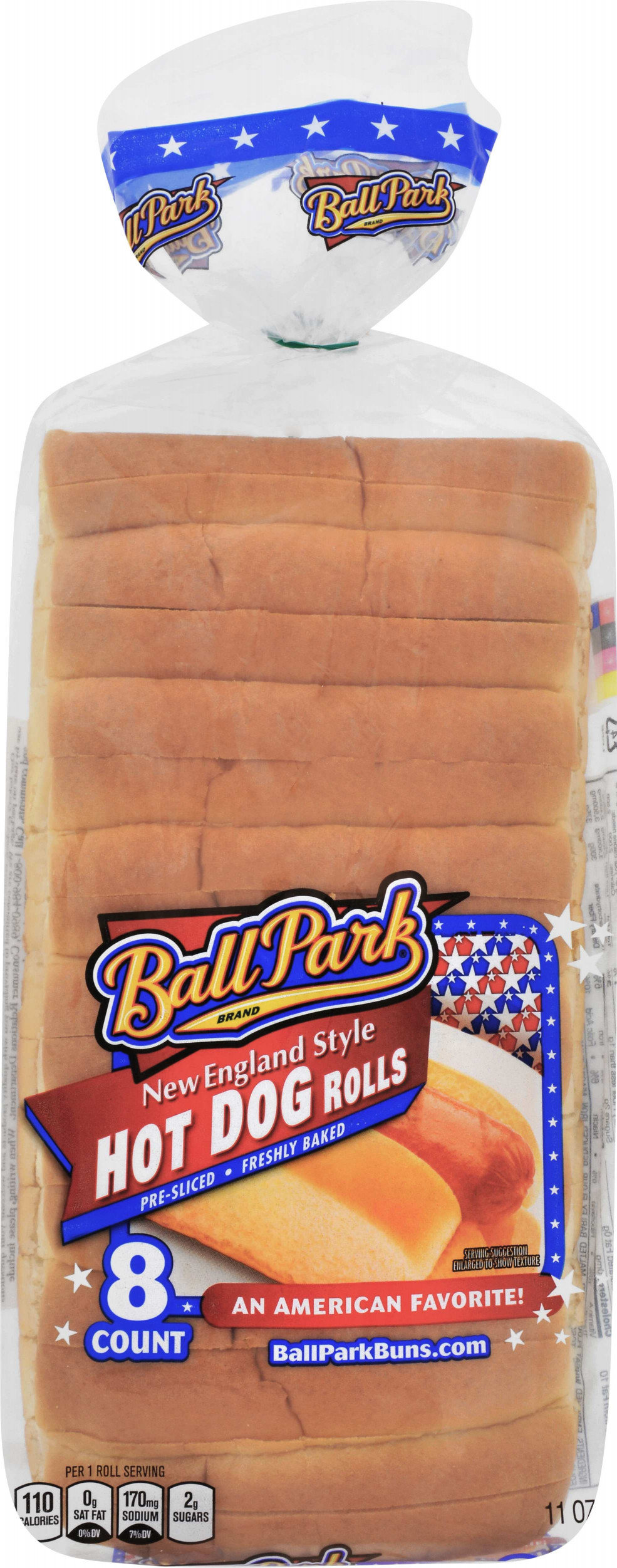 Ball Park New England Style Hot Dog Rolls 8 Count 11 Oz