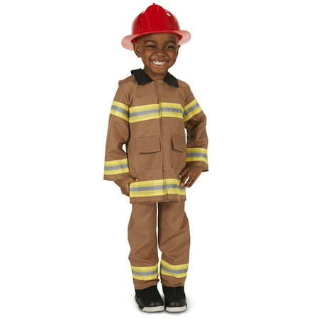 Firefighter with Helmet Costume](Tan Firefighter Costume)