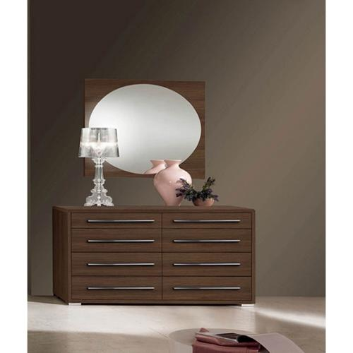 Luca Home Brown 8-drawer Dresser with Mirror