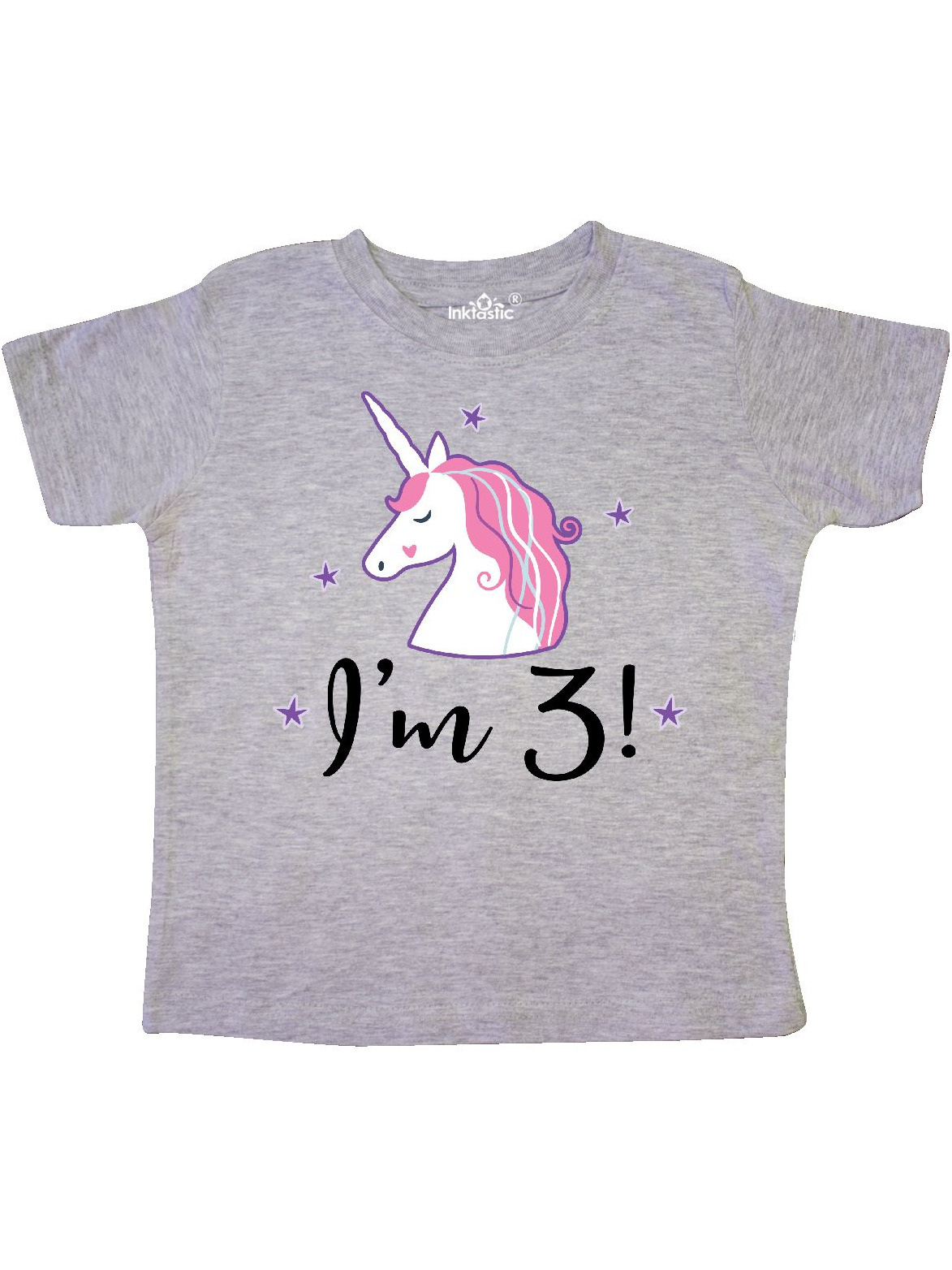 Third Birthday Cute Unicorn Toddler T-Shirt