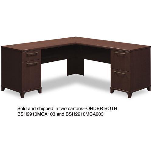 Enterprise Collection 72W x 72D L-Desk, Mocha Cherry (Box 2 of 2)