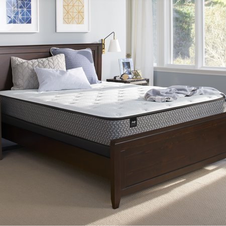 """Sealy Response Essentials 10.5"""" Plush Tight Top Mattress and Low Profile Foundation Set"""