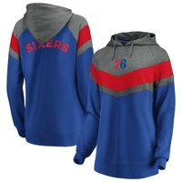 Philadelphia 76ers Fanatics Branded Women's True Classics Go All Out Chevron Pullover Hoodie - Gray/Royal