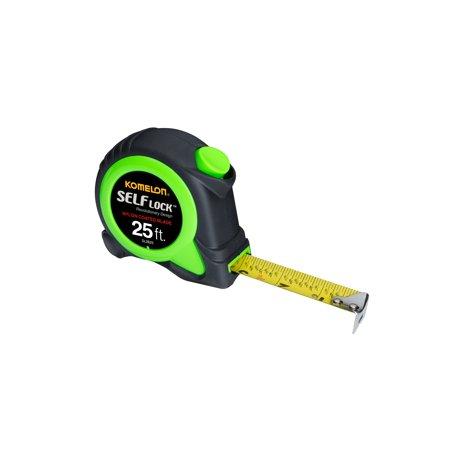 Komelon Self Lock Premium 25 Ft Green Nylon Coated Blade Tape Measure