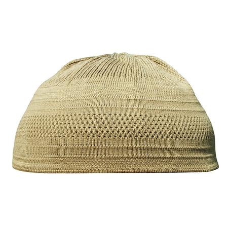 6a0332c9d TheKufi® Hazelnut Color Cotton Stretch Knit Kufi Hat Skull Cap Muslim Cap  (M)