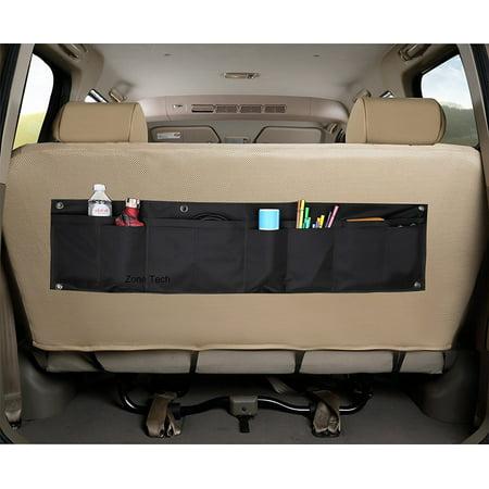 Zone Tech Foldable 12 Pocket Vehicle Backseat Trunk Organizer Multi Item Cargo Storage