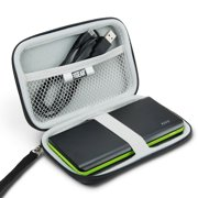 Portable Travel Case for Blackweb 20k mAh Power Bank with Scratch-Resistant Interior by USA Gear - Accessory Mesh Pocket Holds Adapters , USB Cables , Cords , SD Cards and More Accessories
