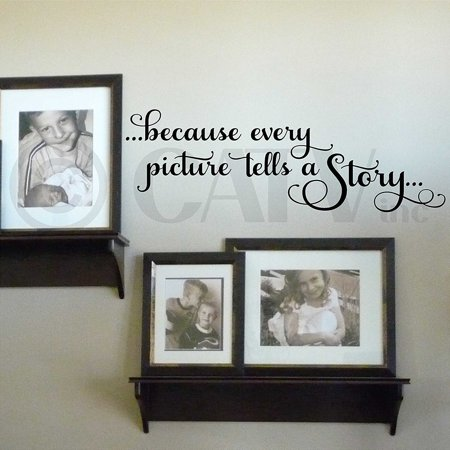 - Because Every Picture Tells a Story Vinyl Lettering Wall Decal Sticker (9