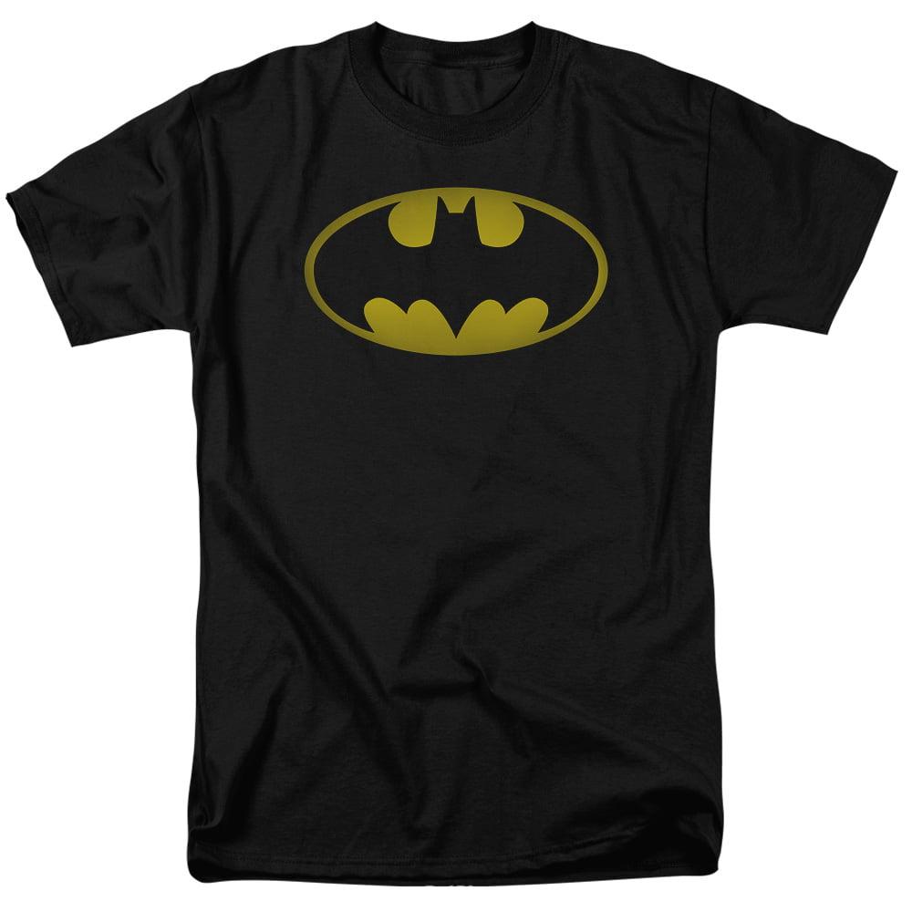 BATMAN/WASHED BAT LOGO - S/S ADULT 18/1 - BLACK - 3X