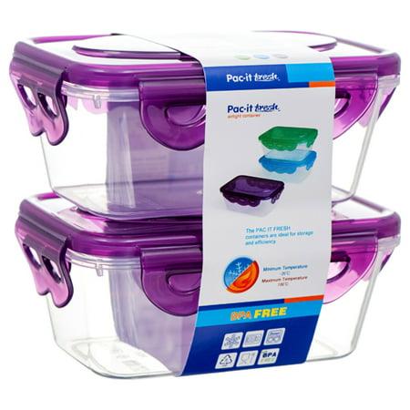 New 378800  Plastic Container Rectangle 250Ml 2Pc (48-Pack) Storage Cheap Wholesale Discount Bulk Plasticware Storage Activewear