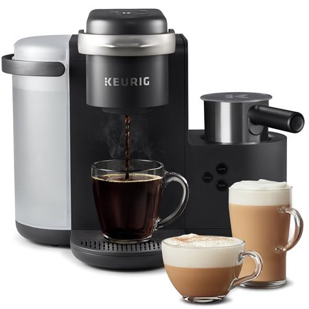 Keurig K-Cafe Single Serve K-Cup Coffee, Latte and Cappuccino Maker, Charcoal