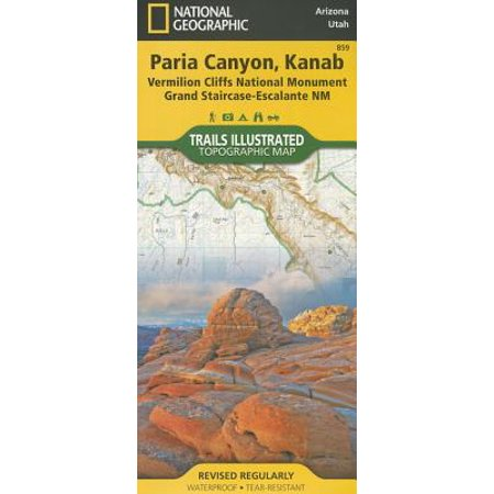 National Geographic Trails Illustrated Map: Paria Canyon, Kanab [vermillion Cliffs National Monument, Grand Staircase-Escalante National Monument] - Folded (Sound Of Silence Trail Dinosaur National Monument)