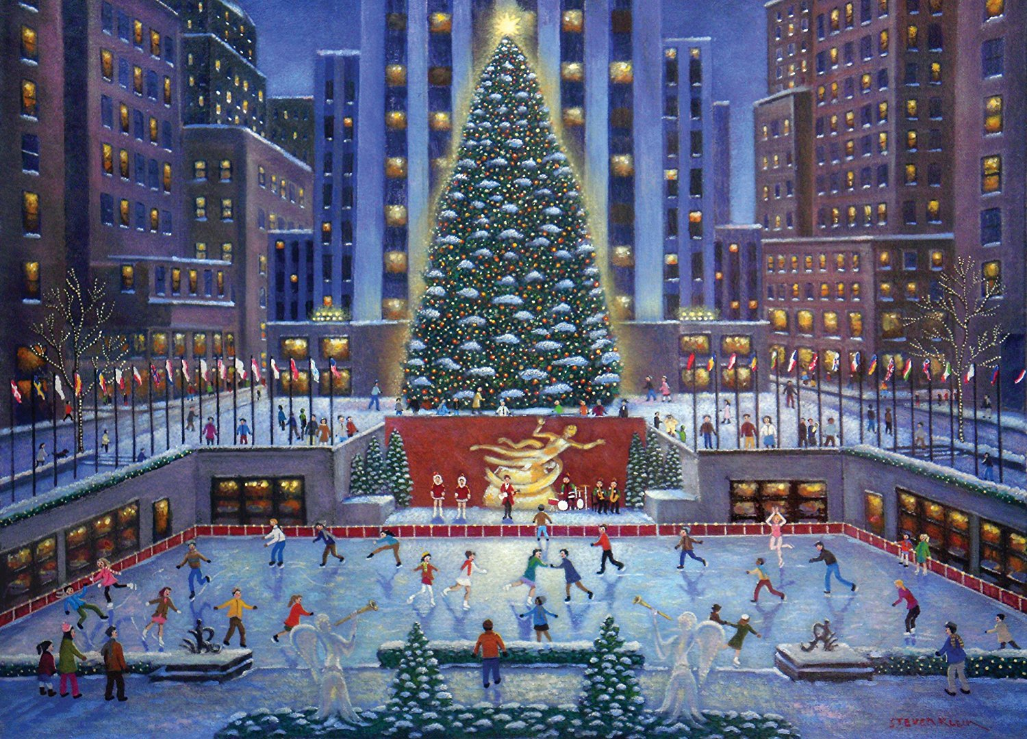 NYC Christmas Puzzle, 1000-Piece By Ravensburger Ship from US by