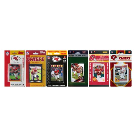 Nfl Kansas City Chiefs 6 Different Licensed Trading Card Team Sets