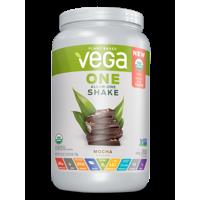 Vega One Organic All-in-One Plant Protein Powder, Mocha, 20g Protein, 1.6lb, 25.3oz