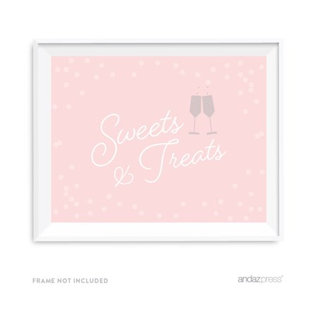 Sweets & Treats Blush Pink and Gray Pop Fizz Clink Wedding Party Signs - Pop Fizz