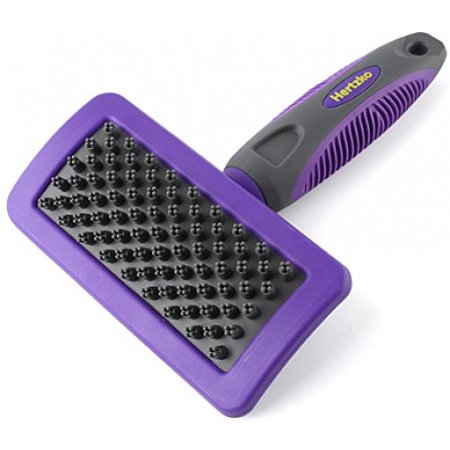 Pet Bath Massage Brush by Hertzko - Great Grooming Tool for Shampooing and Massaging Dogs and Cats with Short or Long Hair