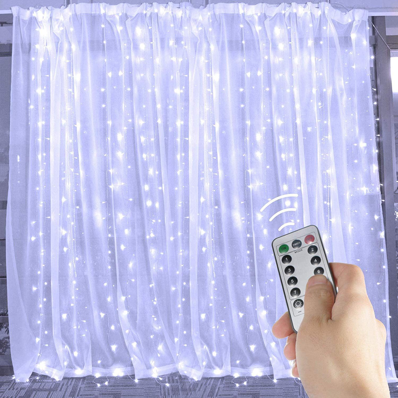 9 8ft X 9 8ft 300led Curtain Light Fairy String Lights Indoor Decoration Hanging Wall Lights For Bedroom Living Room Garden Party Wedding Christmas Xmas Decor 5 Colors Walmart Com Walmart Com