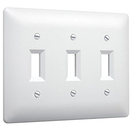 Hubbell Taymac - 4440W 3 Gang Paintable Triple Toggle Light Switch Wall Plate Cover,