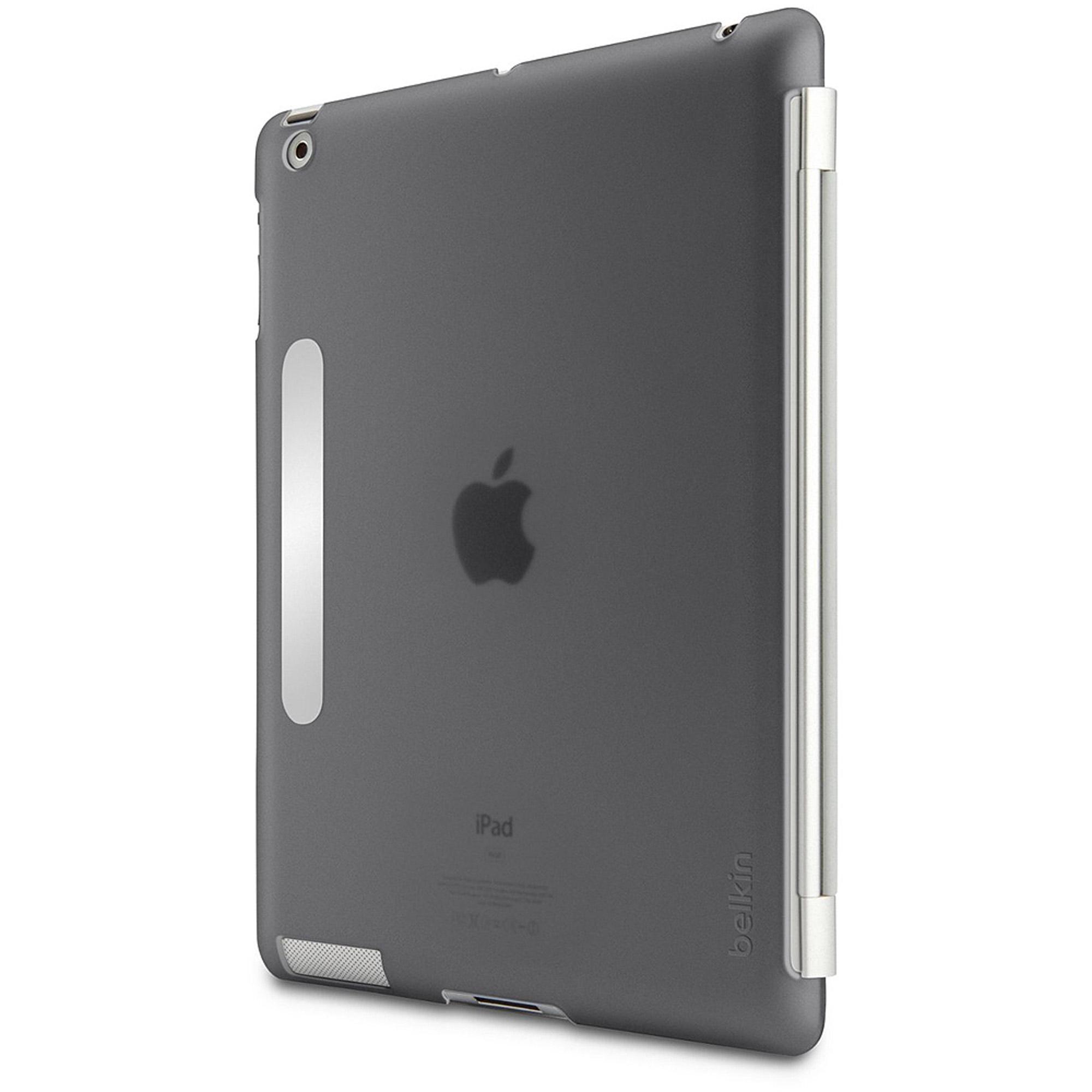 Belkin Snap Shield Secure - Case for web tablet - plastic - smoke - for Apple iP