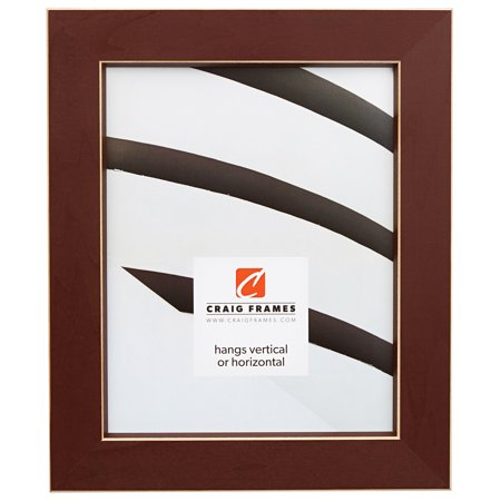 Shaker Picture Frame (Craig Frames Shaker 276, Dark Red Solid Wood Picture Frame, 10 x 13 Inch )