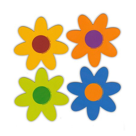 Magnetic Bumper Sticker - Set of 4 Magnets - Pastel Flowers - Decoration Magnets - 4
