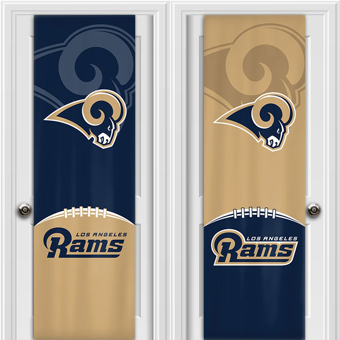 NFL Los Angeles Rams Two Sided Door Wrap