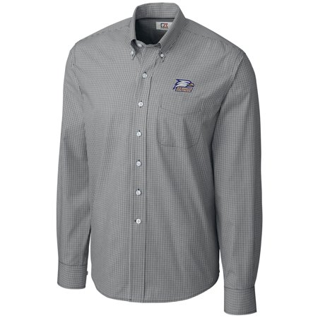 Southern Easy Care (Georgia Southern Eagles Cutter & Buck Epic Easy Care Gingham Big & Tall Long Sleeve Button-Down Shirt - Heather Charcoal )